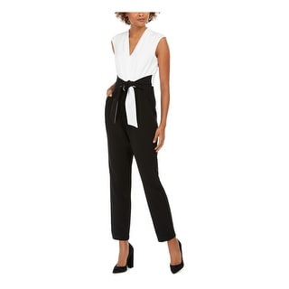 Link to JESSICA HOWARD Womens Black Sleeveless Straight leg Jumpsuit  Size 14 Similar Items in Outfits