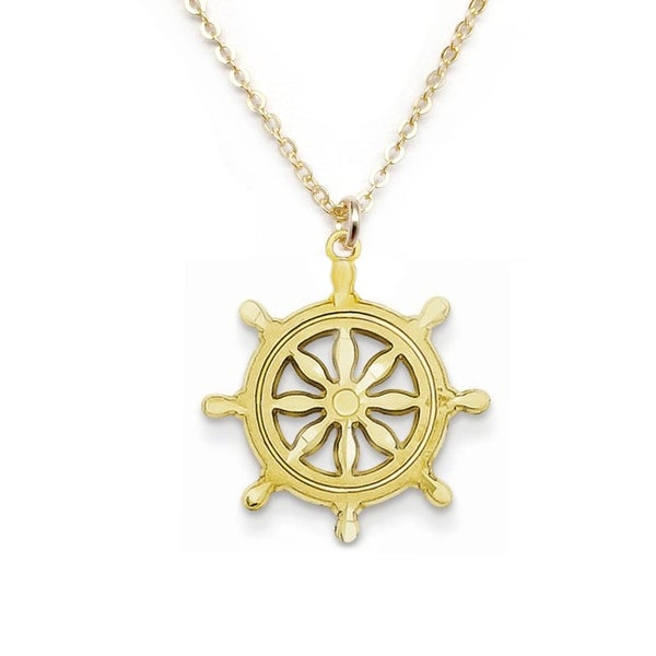 "Julieta Jewelry Wheel Gold Charm 16"" Necklace"