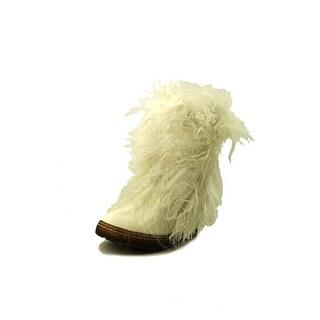 Bearpaw Boetis II Women Round Toe Leather White Mid Calf Boot