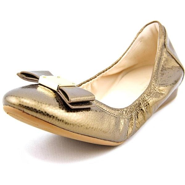 Cole Haan Tali Bow Ballet Women Gold Metallic Flats