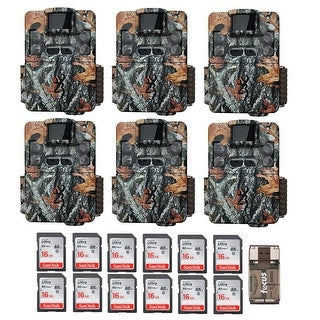 Browning Strike Force Dual Lens Trail Camera (6) with 16GB Card (12) and Reader - Camouflage