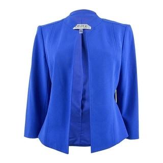 Link to Kasper Women's Crepe Flyaway Jacket - Royal Similar Items in Suits & Suit Separates