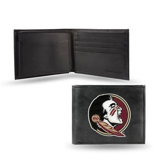 4 Black And Red College Florida State Seminoles Embroidered Billfold Wallet N A