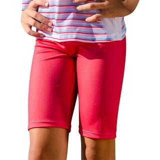 Sun Emporium Little Girls Coral Red Stripe Surfer Shorts (2 options available)