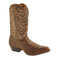"Twisted X Boots Women's Western 12"" R Toe Cowgirl Boot Bomber/Bomber"