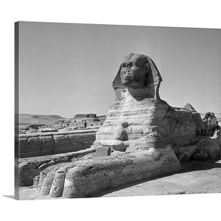 """1950's The Sphinx At The Giza Pyramids Cairo Egypt"" Canvas Wall Art"