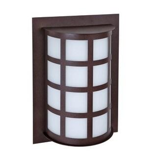 "Besa Lighting SCALA13-SW Scala Single Light 12-3/4"" High Outdoor Wall Sconce"