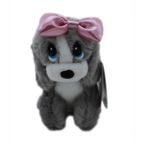 "Aurora Honey Plush 6"" (Grey Dog) - grey"
