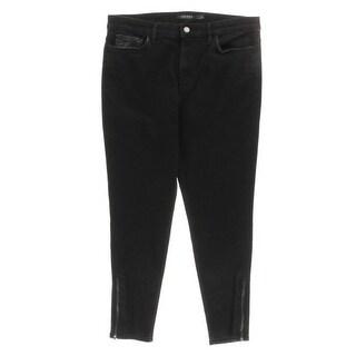 Lauren Ralph Lauren Womens Vartan Colored Skinny Jeans Solid Classic-Rise