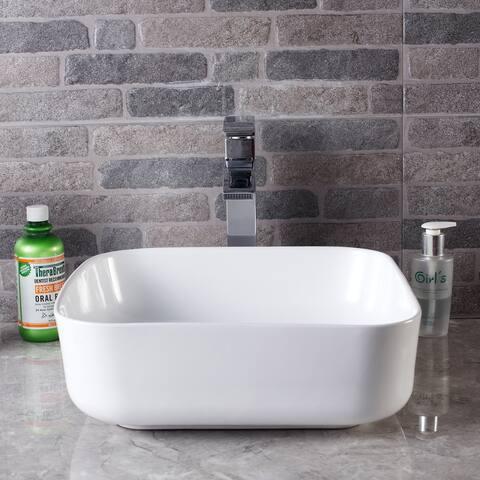 "19"" x 19"" Rectangle Ceramic Sink"