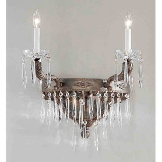 """Classic Lighting 57312-AGB 40"""" Crystal Wallchiere from the Duchess Collection"""