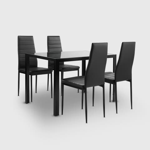 Reign 4 Person Dining Table Set (Set of 5)
