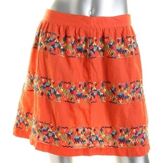 Tommy Hilfiger Womens Daytime Embroidered Flare Skirt