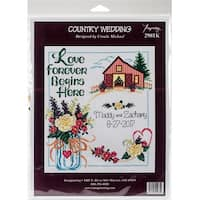 """Country Wedding Counted Cross Stitch Kit-10.5""""X11.5"""" 14 Count"""