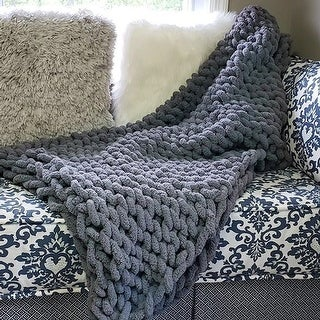 Link to Chunky Knit Throw Blanket Cozy Polyester Chenille Bulky Blankets Similar Items in Blankets & Throws