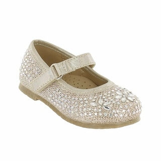 Cookie Smoochie 'Zoe' Glittered Mary Jane flat with Iron-on Stones