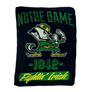 Retro Notre Dame Plush Micro Raschel Throw Blanket - Black