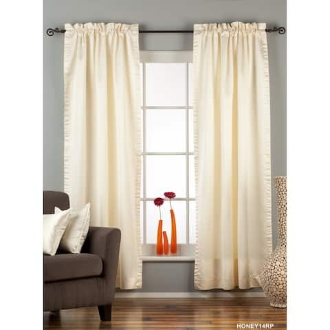 Cream Rod Pocket 90% blackout Curtain / Drape / Panel - Piece
