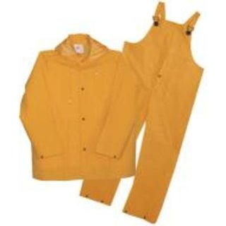 Boss 3PR0300YM Three Piece Rain Suit, 35 Mil, Yellow