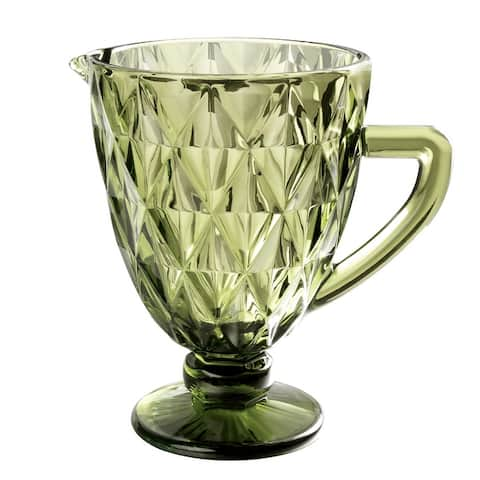 """51 Ounce Glass Pitcher Jug Large Beer Wine Goblet Carafe with Handle - 7.8x5.5"""""""