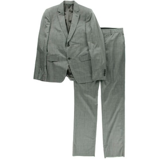 John Varvatos Mens Wool 2PC Two-Button Suit - 48R
