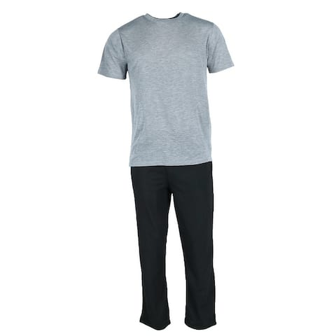 Ten West Apparel Men's Knit Tee an Lounge Pant Pajama Set