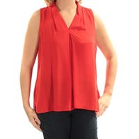 VINCE CAMUTO Womens Red Sleeveless V Neck Top  Size: M