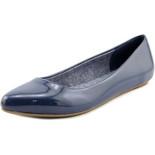 Dr. Scholl's Really Women Pointed Toe Synthetic Blue Flats
