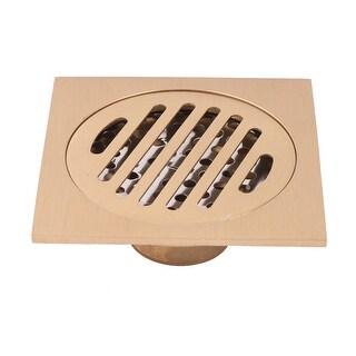 Household Bathroom Stainless Steel Floor Drain Strainer Hair Stopper Gold Tone