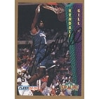 Kendall Gill Charlotte Hornets 1993 Fleer Slam Dunk Autographed Card Nice Card This item comes with a certificate o