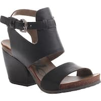 OTBT Women's Lee Sandal Black Leather