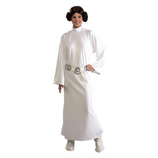 Rubies Star Wars Deluxe Princess Leia Adult Costume - White - Standard