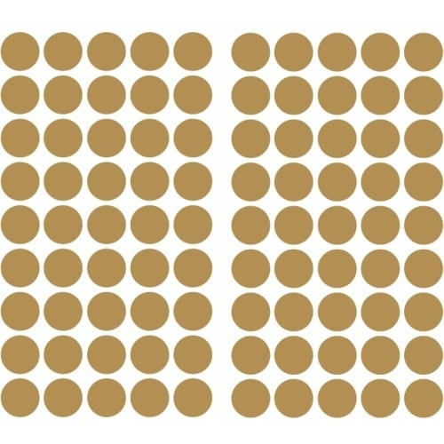 RoomMates RMK3073SCS Variable Sized - Gold Confetti Dots - Self-Adhesive Repositionable Vinyl Wall Decal - Set of 90