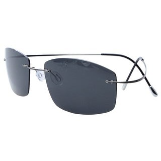 Eyekepper Rimless Titanium Frame Polarized Sunglasses Grey Lens