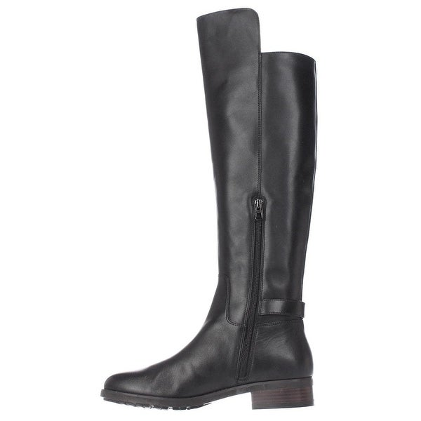 Coach Womens Emmie Semi Matte Leather Round Toe Knee High Fashion Boots Fashi...
