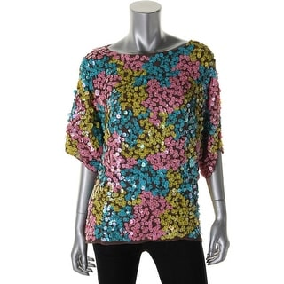 Catherine Malandrino Womens Silk Paillettes Blouse - S