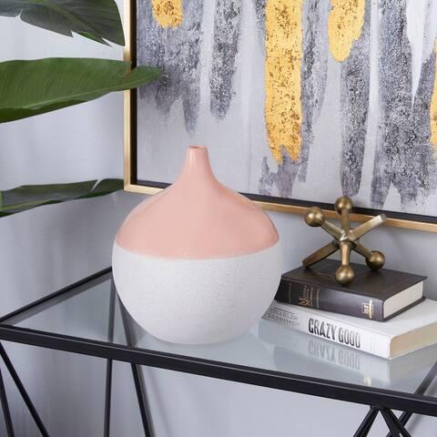 Pink Ceramic Modern Vase 10 x 9 x 9 - 9 x 9 x 10Round