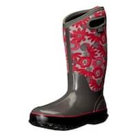 Bogs Womens 525552 Fabric Closed Toe Knee High Rainboots - 6
