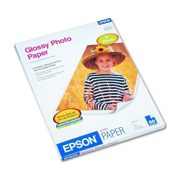 Epson S041649 Glossy Photo Paper 52 Lbs. Glossy 8-1/2 X 11