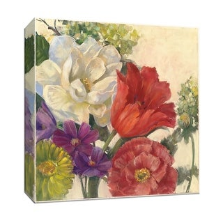 "PTM Images 9-153422  PTM Canvas Collection 12"" x 12"" - ""Coral Tulip"" Giclee Tulips Art Print on Canvas"