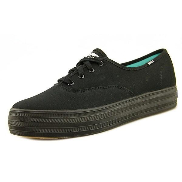 6ec62aaf82 Shop Keds Triple Women Round Toe Canvas Black Sneakers - Free ...