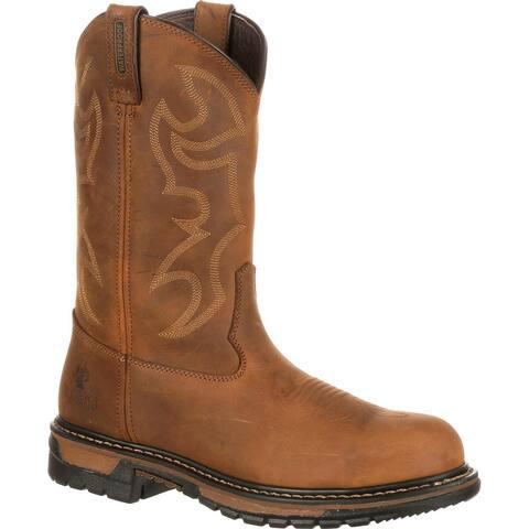Rocky Men's Original Ride Waterproof Steel Toe Western Boot
