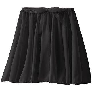 Capezio Little Girls' Children's Collection Circular Pull-On Skirt, Black, Toddler