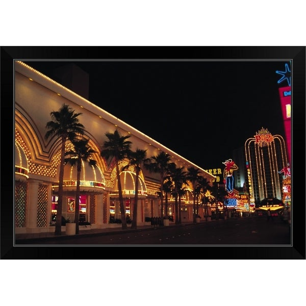 """neon signs Las Vegas"" Black Framed Print"