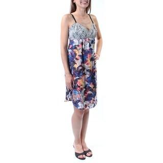 RACHEL ROY Womens New 3781 Black Floral Pocketed Empire Waist Dress 8 B+B