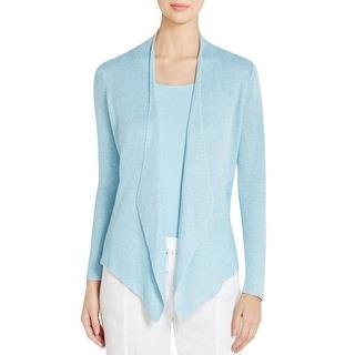Eileen Fisher Womens Petites Cardigan Sweater Organic Linen Angled - pl
