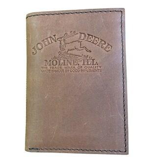 John Deere Western Wallet Mens Trifold Vintage Brown 4082000 - One size