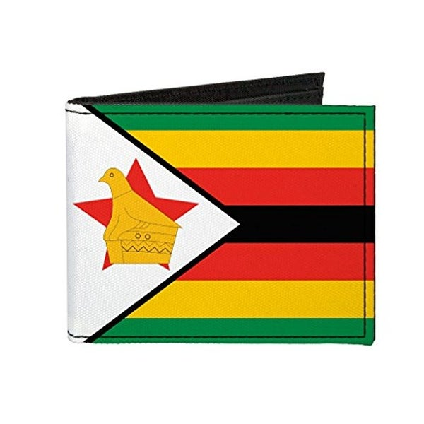 Buckle-Down Canvas Bi-fold Wallet - Zimbabwe Flag Accessory