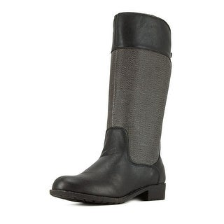 Propet Belmont Women  Round Toe Leather Black Mid Calf Boot