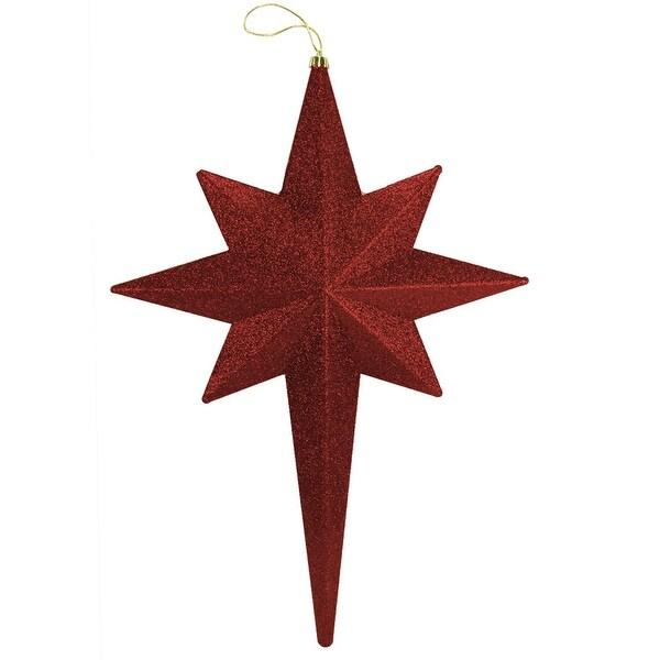"""20"""" Burgundy Glittered Bethlehem Star Shatterproof Christmas Ornament"""